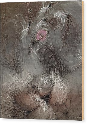 Wood Print featuring the digital art Whims Within by Casey Kotas