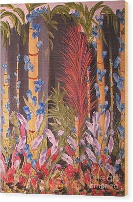 Whimsical  Bamboo Wood Print by Rachel Carmichael