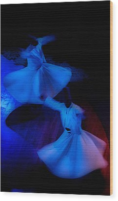 Whirling Dervish - 3 Wood Print by Okan YILMAZ