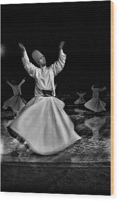 Whirling Dervish Wood Print by Okan YILMAZ