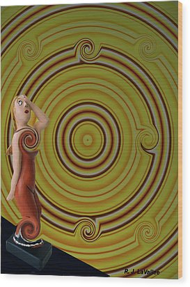 Whirlpool Confusion  Wood Print by Roland LaVallee