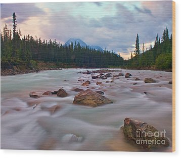Whirlpool River Wood Print by James Steinberg and Photo Researchers