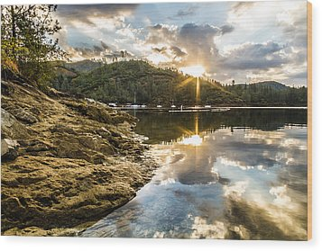 Wood Print featuring the photograph Whiskeytown Lake Sunrise by Randy Wood