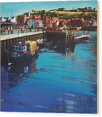 Whitby New Quay Wood Print by Neil McBride