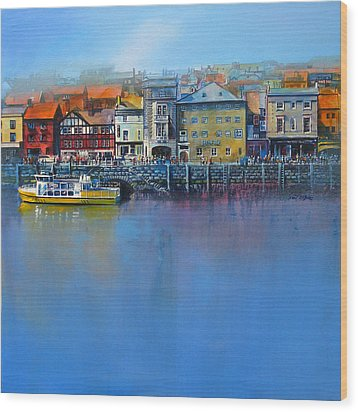 Whitby St Anne's Staith Wood Print by Neil McBride