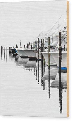 White Boats I Wood Print by Dan Carmichael