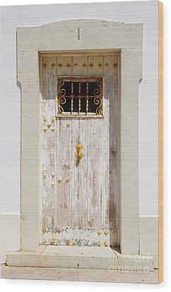White Door Wood Print by Carlos Caetano