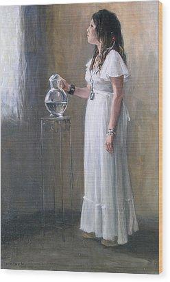 White Dress Wood Print