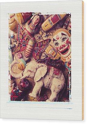 White Elephant Wood Print by Garry Gay