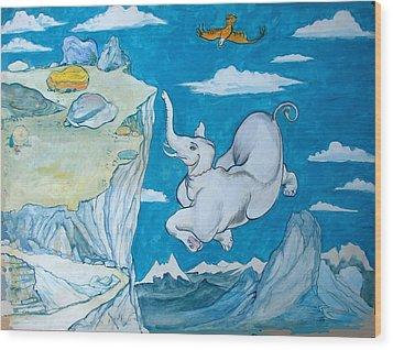 White Elephant Wood Print