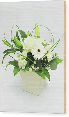 White Flower Bouquet Wood Print by © S.Musgrove