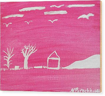 White Hill Wood Print