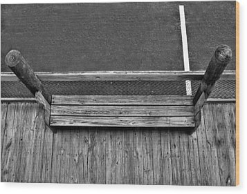 Wood Print featuring the photograph White Line by Bill Lucas