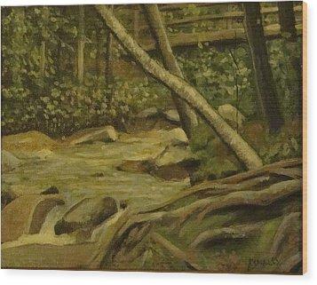 White Mountain Stream Wood Print by Mark Haley