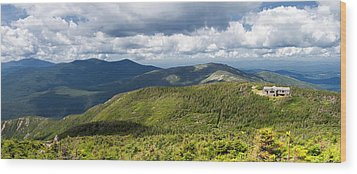 White Mountains New Hampshire Panorama Wood Print by Stephanie McDowell