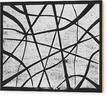 White On Black Wood Print by Hakon Soreide