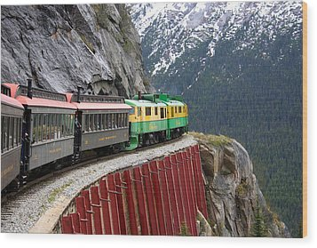 Wood Print featuring the photograph White Pass Train Ride by Laurel Talabere