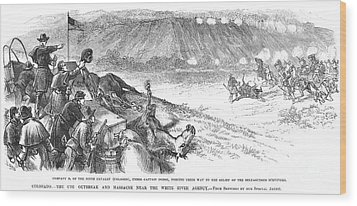 White River Attack, 1879 Wood Print by Granger