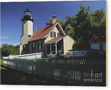 White River Light Wood Print