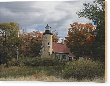 White River Lighthouse Wood Print by Richard Gregurich