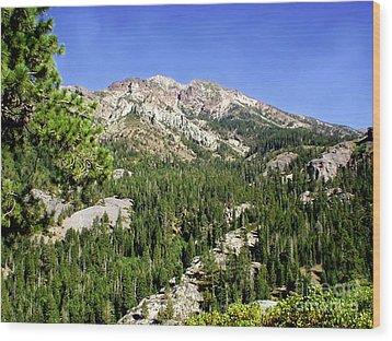 White Rock Mountain Wood Print by The Kepharts