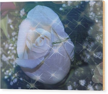 Wood Print featuring the photograph White Rose by Michelle Frizzell-Thompson