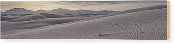 Wood Print featuring the photograph White Sands Desert Panorama by Mike Irwin