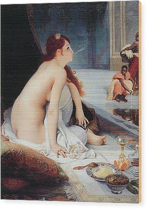 White Slave Wood Print by Jean-Jules Antoine Lecomte Du Nouy