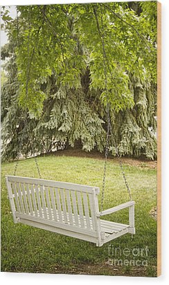 White Swing In The Green Wood Print by James BO  Insogna