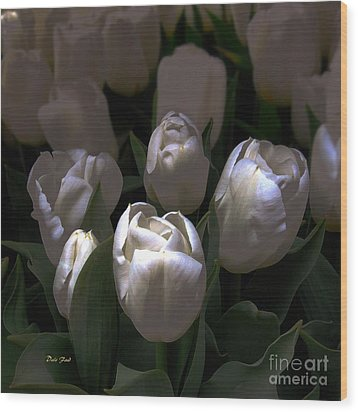 White Tulips Wood Print by Dale   Ford