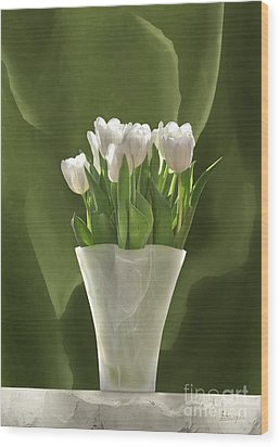 White Tulips Wood Print by Johnny Hildingsson