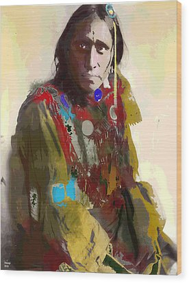 White War Bonnet Wood Print