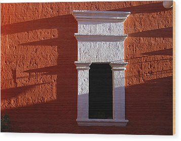 White Window Wood Print by RicardMN Photography
