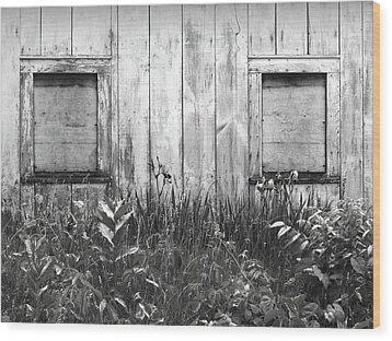 White Windows Wood Print by Anna Villarreal Garbis