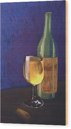 White Wine Wood Print by Garry McMichael