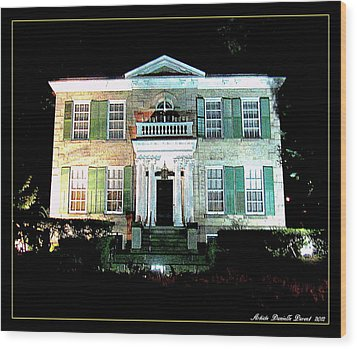 Whitehern Historic House And Garden Wood Print by Danielle  Parent