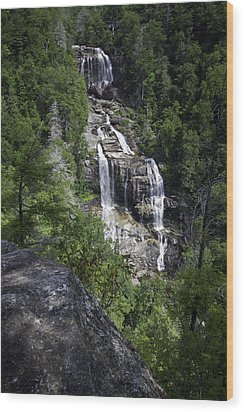 Whitewater Falls Wood Print by Rob Travis