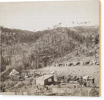 Whitewood Canyon, Wade And Jones R.r Wood Print by Everett