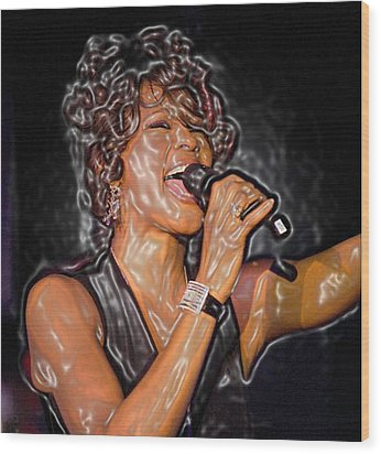 Whitney Houston Song Bird No. 1 Wood Print by De Beall