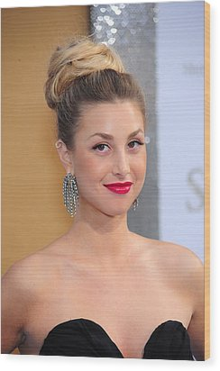 Whitney Port At Arrivals For Sex And Wood Print by Everett