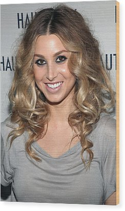 Whitney Port In Attendance Wood Print by Everett