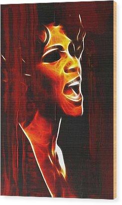 Whitneys Tears Wood Print by Steve K