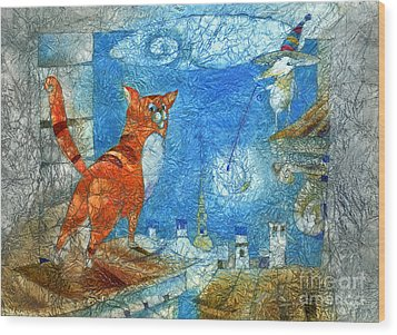 Who Lights The Stars Wood Print by Svetlana and Sabir Gadghievs
