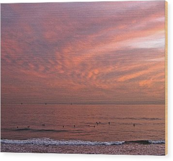 Who Needs Waves Wood Print