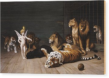 Whoever You Are Here Is Your Master Wood Print by Jean Leon Gerome