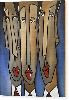 Who's The Boss Wood Print by Tom Fedro - Fidostudio