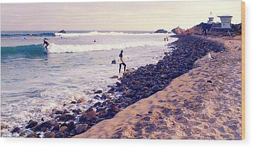 Why We Surf Wood Print by Ron Regalado