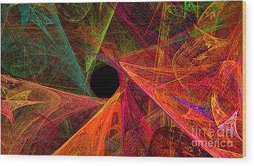Wide Eye Color Delight Panorama Wood Print by Andee Design
