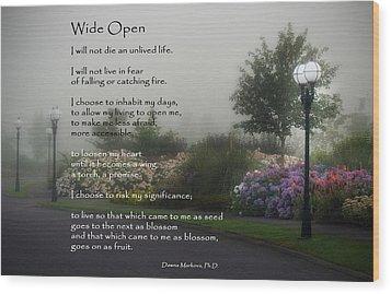 Wide Open Wood Print