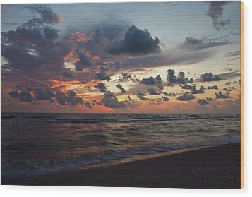 Wiggins Beach Summer Sunset. Wood Print by Nick  Shirghio